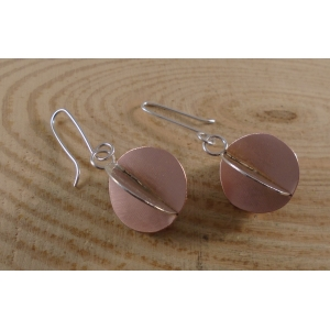 Sterling Silver 3D Circle Earrings