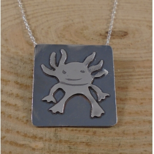 Sterling Silver Axolotl Necklace