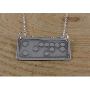 Sterling Silver Kind Braille Necklace