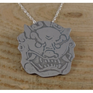 Sterling Silver Food Dog Necklace
