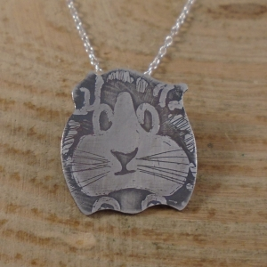 Sterling Silver Guinea Pig Necklace