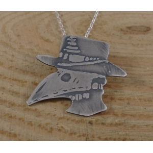 Sterling Silver Plague Doctor Necklace