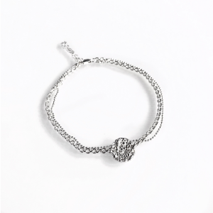 Envelop disc twin bracelet