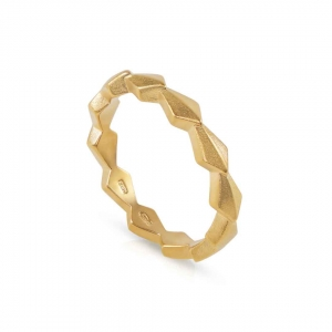 Zen Continuity Ring in gold vermeil