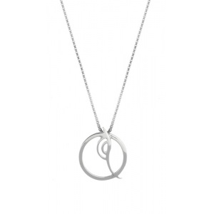 Metamorphosis Small Circle Silver Pendant