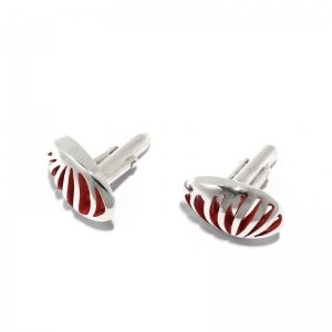 Entropic Cufflinks – Oval