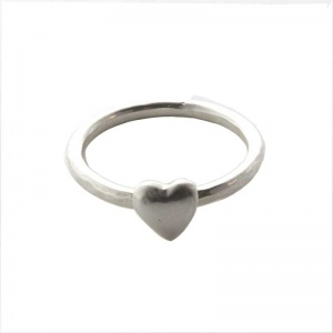 Dwynwen's stacking Love Rings - Silver Heart Stacking Ring