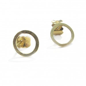 18ct gold Circle Stud Earrings