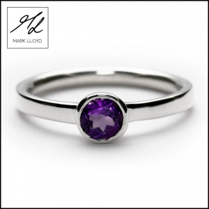 DARK AMETHYST STACKING RING