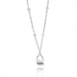 Cherish Teardrop Dangle Long Necklace