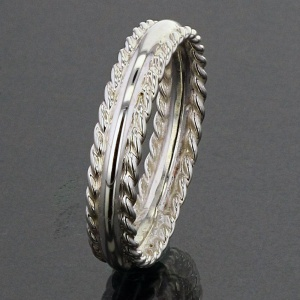 Saxon Style Weave Silver Ring