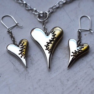 Unbroken Heart pendant and earring set