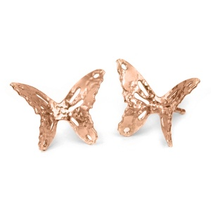 Butterfly Stud Earrings - Rose