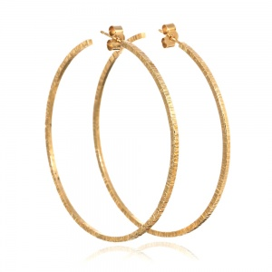 Gold Vermeil Large Hammered Hoop Earrings