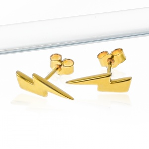 18ct Gold Lightning Bolt Earrings