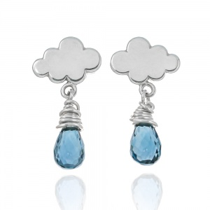 Mini Rain Cloud Earrings