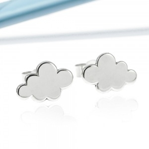Rain Cloud Stud Earrings
