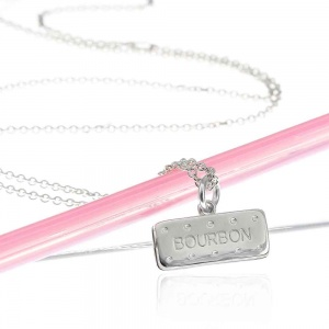 Silver Bourbon Biscuit Necklace