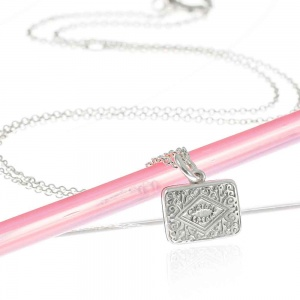 Silver Custard Cream Biscuit Necklace