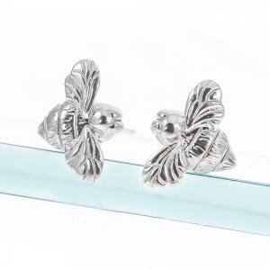 Silver Mini Bee Earrings