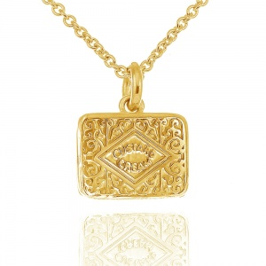 Gold Vermeil Custard Cream Necklace