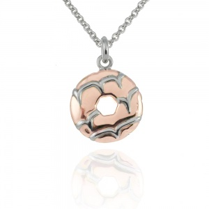 Rose Gold Vermeil Party Ring Necklace