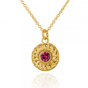 Gold Vermeil Jammie Dodger Necklace