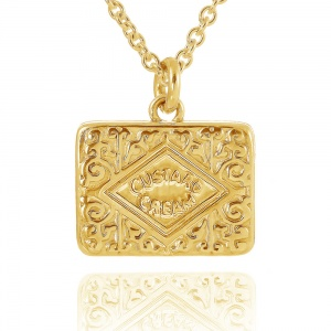 Gold Vermeil Large Custard Cream Necklace